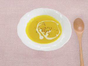 """「簡単♪ほっこり♪""""ハロウィンスウィート""""のスープ」"""